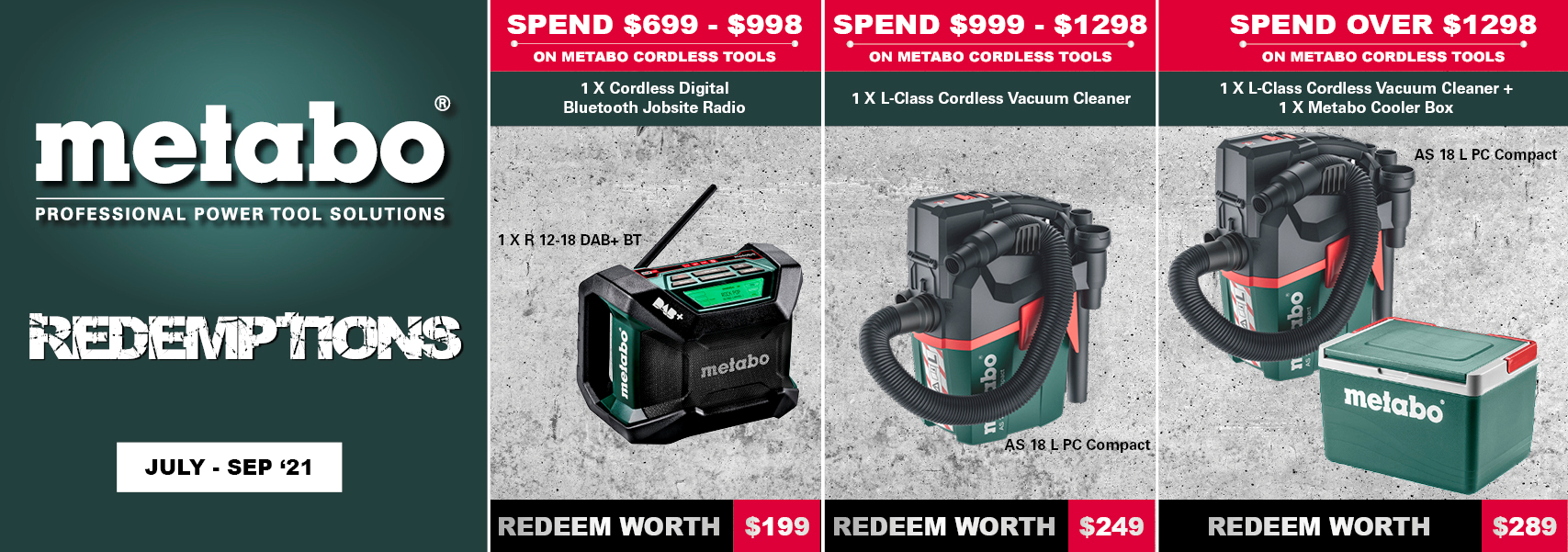Metabo Redemptions